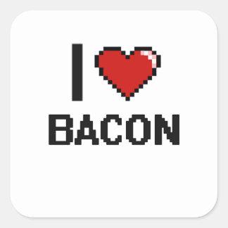 I Love Bacon Square Sticker