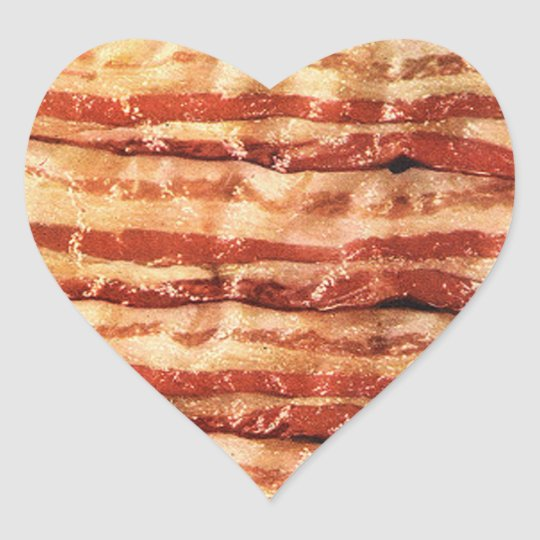 I LOVE BACON STICKERS!! HEART STICKER