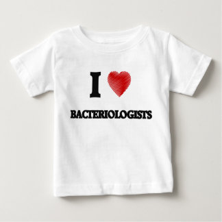 I love Bacteriologists (Heart made from words) Infant T-Shirt