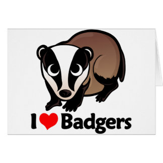 I Love Badgers Card