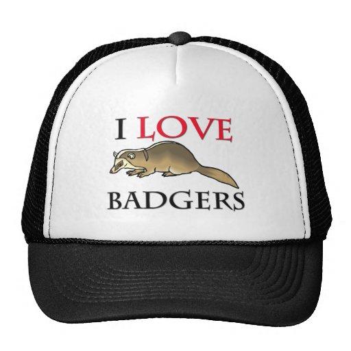 I Love Badgers Trucker Hats