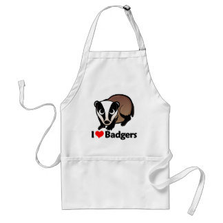 I Love Badgers Standard Apron