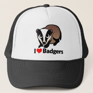 I Love Badgers Trucker Hat
