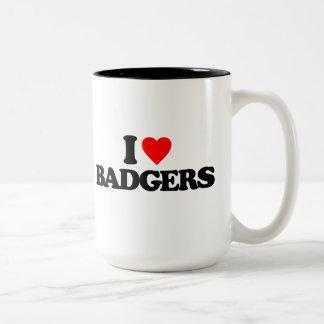 I LOVE BADGERS Two-Tone MUG