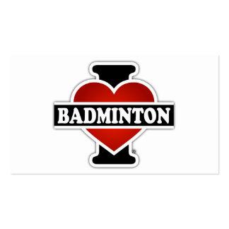 I Love Badminton Pack Of Standard Business Cards