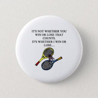 i love badminton design 6 cm round badge