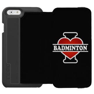 I Love Badminton Incipio Watson™ iPhone 6 Wallet Case