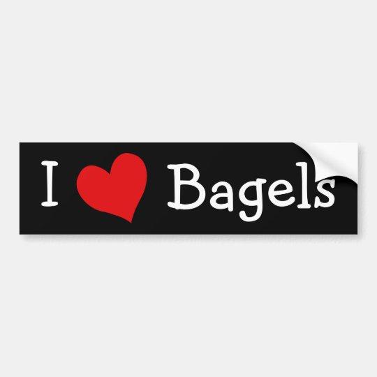 I Love Bagels Bumper Sticker