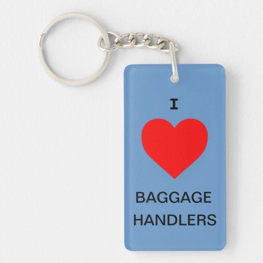 I love baggage handlers key chain / luggage