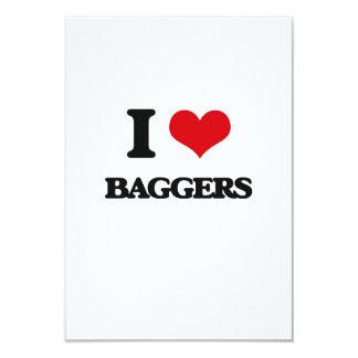 "I love Baggers 3.5"" X 5"" Invitation Card"