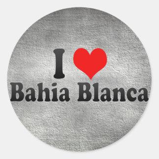 I Love Bahia Blanca Argentina Round Stickers