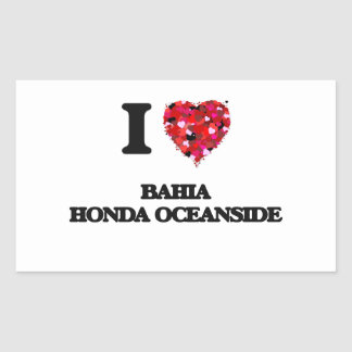 I love Bahia Honda Oceanside Florida Rectangular Sticker
