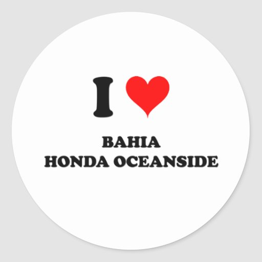 I Love Bahia Honda Oceanside Round Stickers