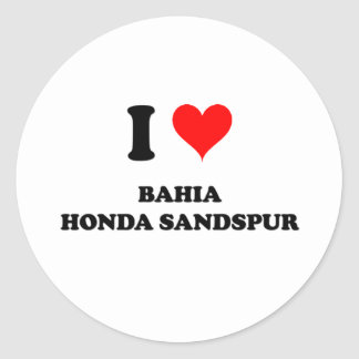 I Love Bahia Honda Sandspur Sticker