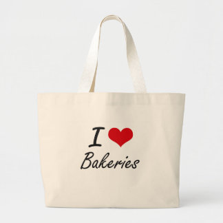 I Love Bakeries Artistic Design Jumbo Tote Bag