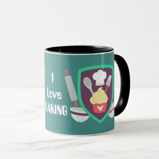 I love baking customizable coffee mug