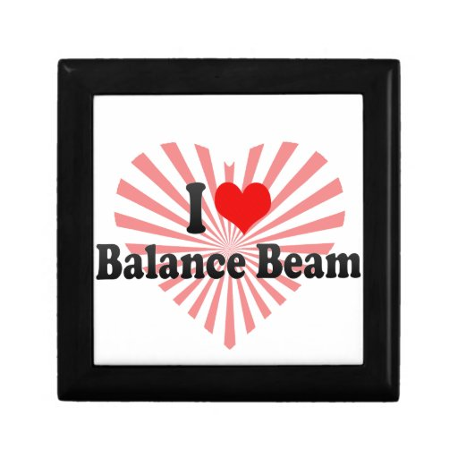 I love Balance Beam Small Square Gift Box