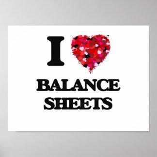 I Love Balance Sheets Poster