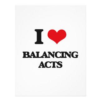 I Love Balancing Acts Flyer Design