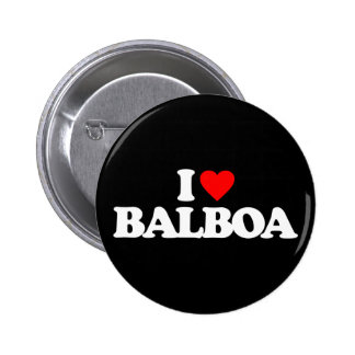 I LOVE BALBOA 6 CM ROUND BADGE