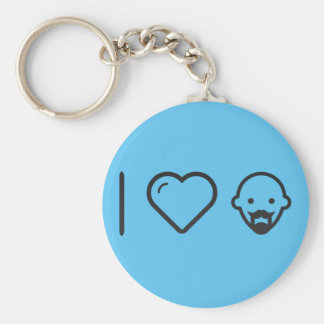 I Love Bald Men Key Ring