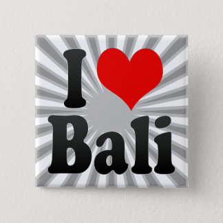 I Love Bali, India. Mera Pyar Bali, India 15 Cm Square Badge