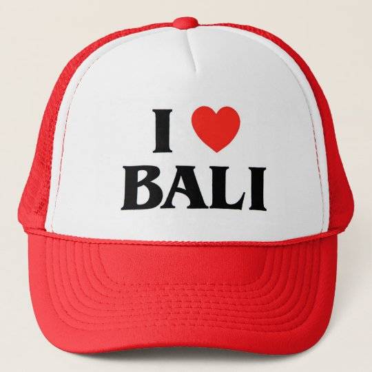 I Love Bali Trucker Hat