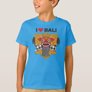 I Love Bali with Barong Art T-Shirt