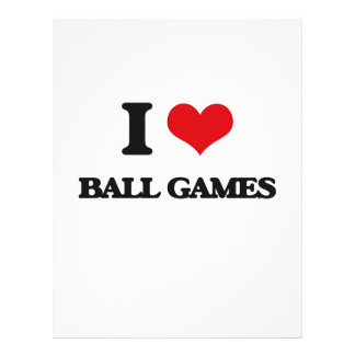 I Love Ball Games Flyer