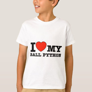 I Love ball python T-Shirt