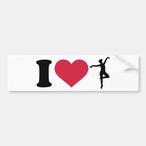 I love Ballerina dancing Bumper Sticker