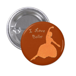I Love Ballet 3 Cm Round Badge