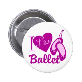 I Love Ballet 6 Cm Round Badge