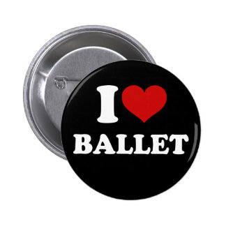 I Love Ballet 6 Cm Round Badge