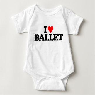 I LOVE BALLET BABY BODYSUIT