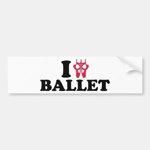 I love Ballet feet Bumper Sticker