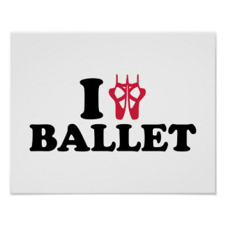 I love Ballet feet Print
