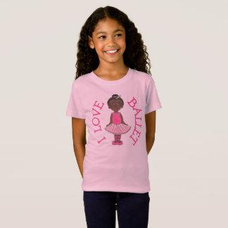 I LOVE BALLET Pink Tutu Girl Ballerina Dance Class T-Shirt
