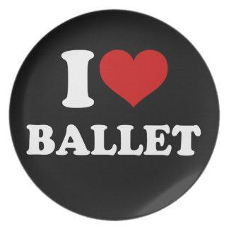 I Love Ballet Plate