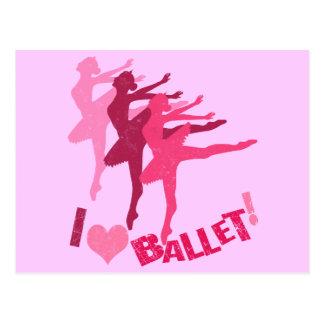 I love Ballet Postcards