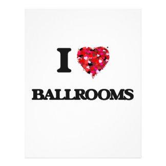 I Love Ballrooms 21.5 Cm X 28 Cm Flyer