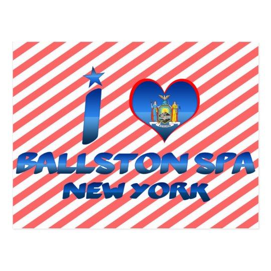 I love Ballston Spa, New York Postcard