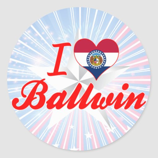 I Love Ballwin, Missouri Round Stickers
