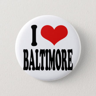 I Love Baltimore 6 Cm Round Badge