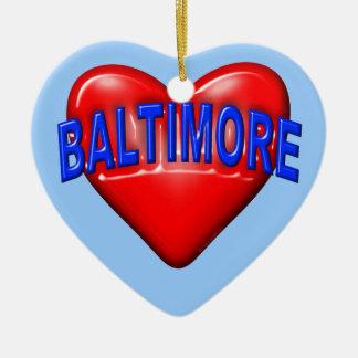 I love Baltimore Ceramic Heart Decoration
