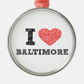 I-Love-Baltimore Christmas Ornament