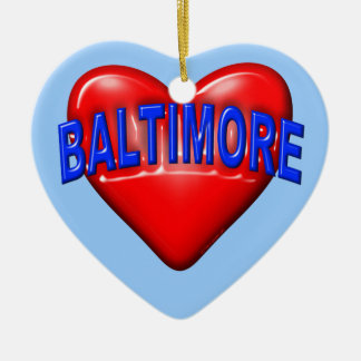 I love Baltimore Christmas Ornament