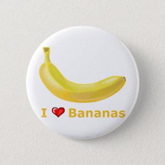 I Love Bananas 6 Cm Round Badge