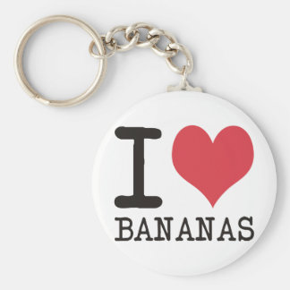 I Love Bananas - Apples - Bread Products & Designs Key Ring