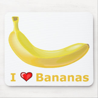 I Love Bananas Mouse Mat